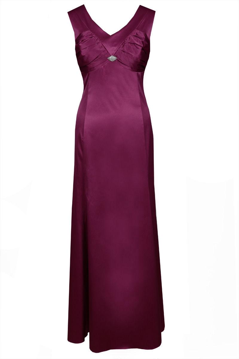 Sukienka FSU226 AMARANT ŚREDNI
