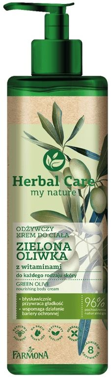 HERBAL CARE Odżywczy krem do ciała ZIELONA OLIWKA z witaminami, 400ml
