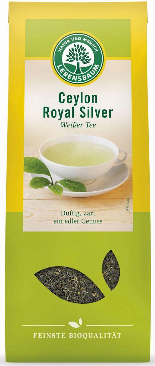 Herbata biała ceylon liściasta bio 40 g - lebensbaum