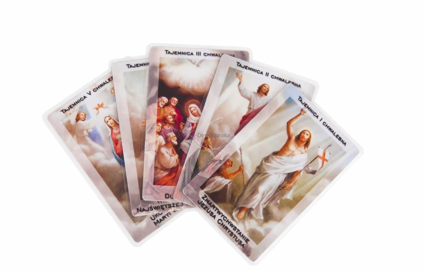 Tajemnice różańcowe DR (laminowane) - 20 szt kart