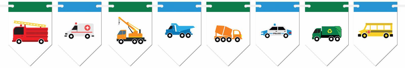 Baner flagi Samochodziki - 300 cm