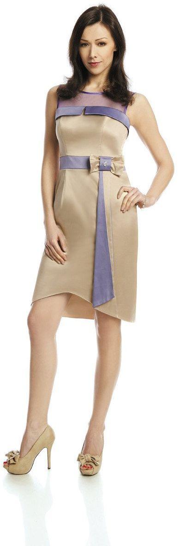 Sukienka FSU224 SZAMPAN WRZOSOWY