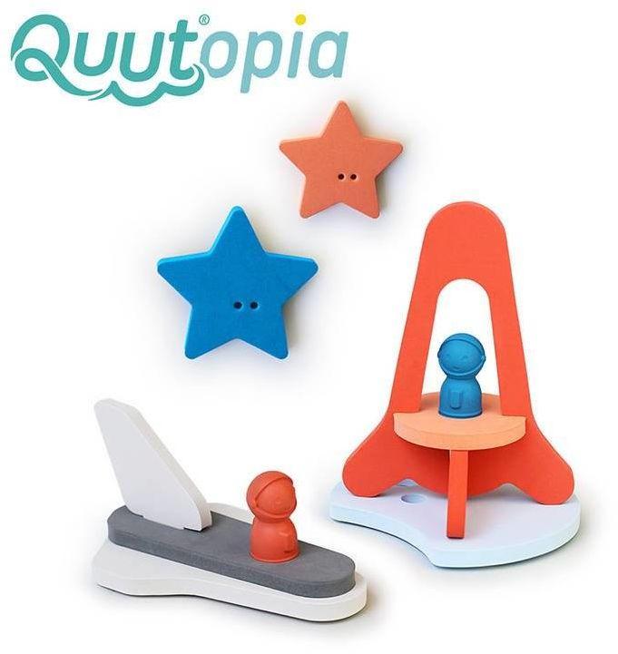 Piankowe puzzle do kąpieli 3D Quutopia Wyprawa na księżyc 172123-Quut, zabawki do kąpieli