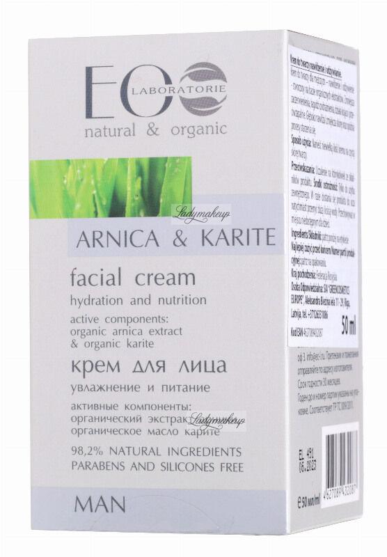 ECO Laboratorie - Arnika & Karite Facial Cream - Nawilżająco-odżywiający krem do twarzy dla mężczyzn - 50 ml