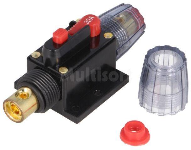 Bezpiecznik automatyczny samochodowy 30A czarny 12 48VDC