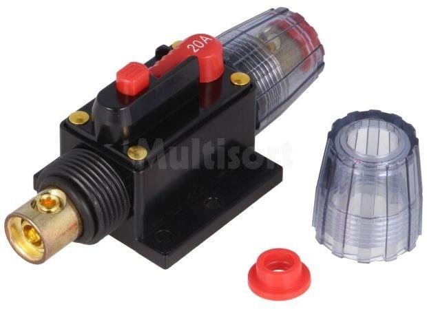 Bezpiecznik automatyczny samochodowy 20A czarny 12 48VDC