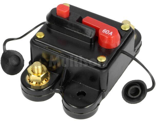 Bezpiecznik automatyczny samochodowy 60A czarny 12 48VDC