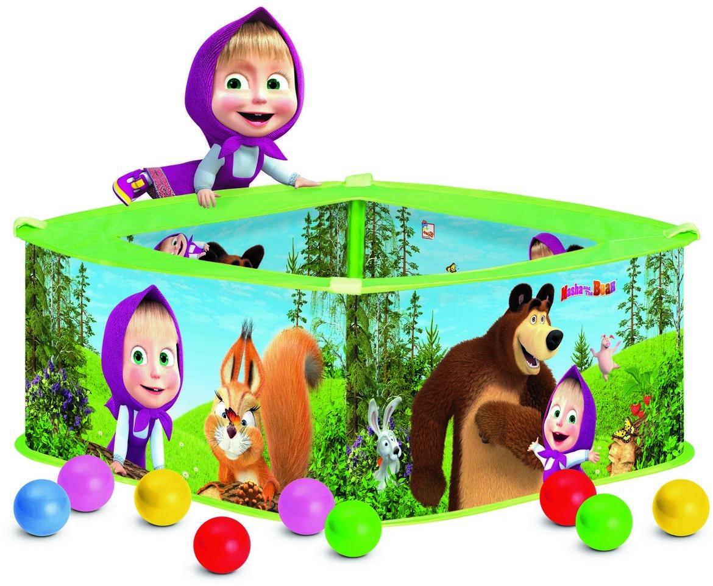 Bino Basen z balonikami Masza i Niedźwiedź, 30 x 75 x 75 cm