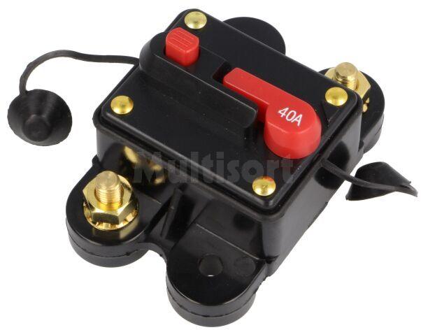 Bezpiecznik automatyczny samochodowy 40A czarny 12 48VDC