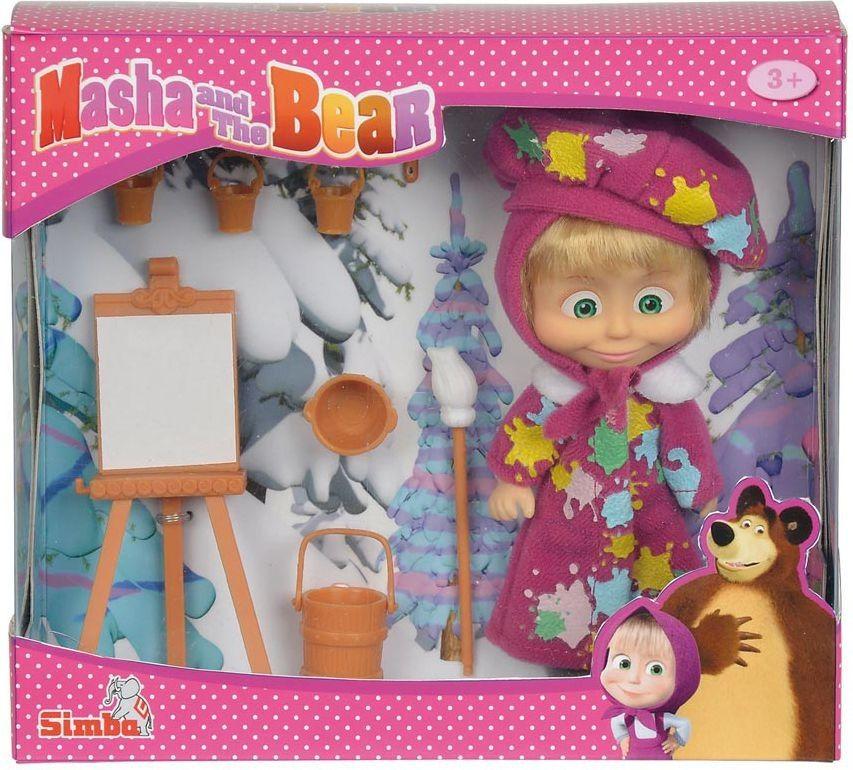 Simba, Masza i Niedźwiedź, malarz ze sztalugą