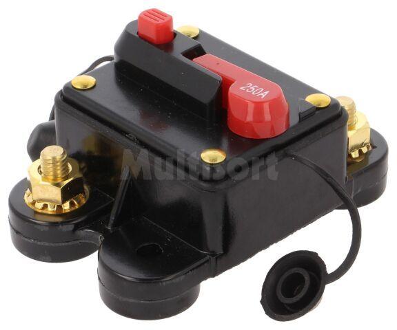 Bezpiecznik automatyczny samochodowy 250A czarny 12 48VDC