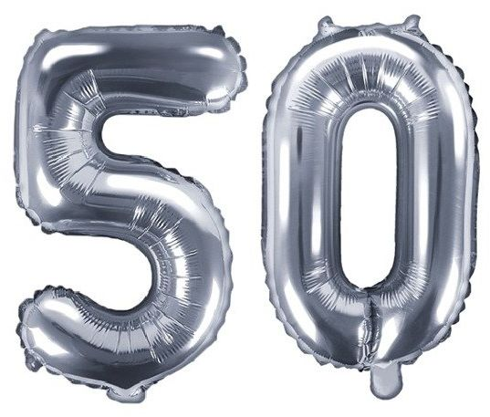 Balony foliowe 50 srebrne 35cm FB10M-50-018