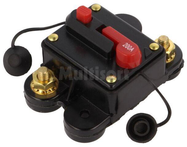 Bezpiecznik automatyczny samochodowy 200A czarny 12 48VDC