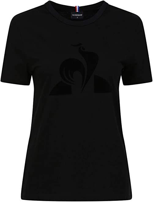 Le Coq Sportif damska koszulka Ess Ss N 1 T-shirt Czarny XXS