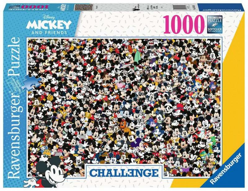 Puzzle 1000 elementów Challange Myszka Miki (GXP-761217)