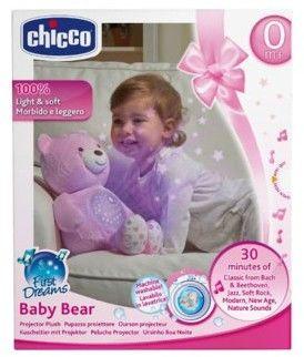 Chicco zabawki 060351 miś z projektorem różowy
