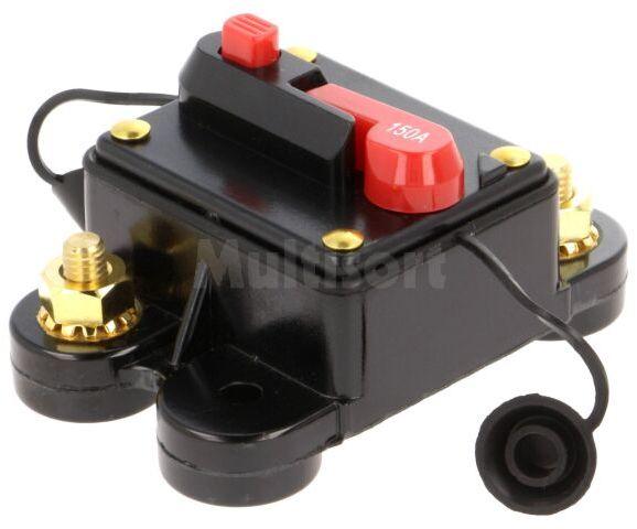 Bezpiecznik automatyczny samochodowy 150A czarny 12 48VDC