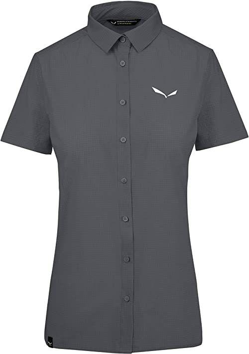 Salewa Puez Minicheck2 Dry W S/S SRT bluzki i T-shirty, Ombre Blue, 40/34