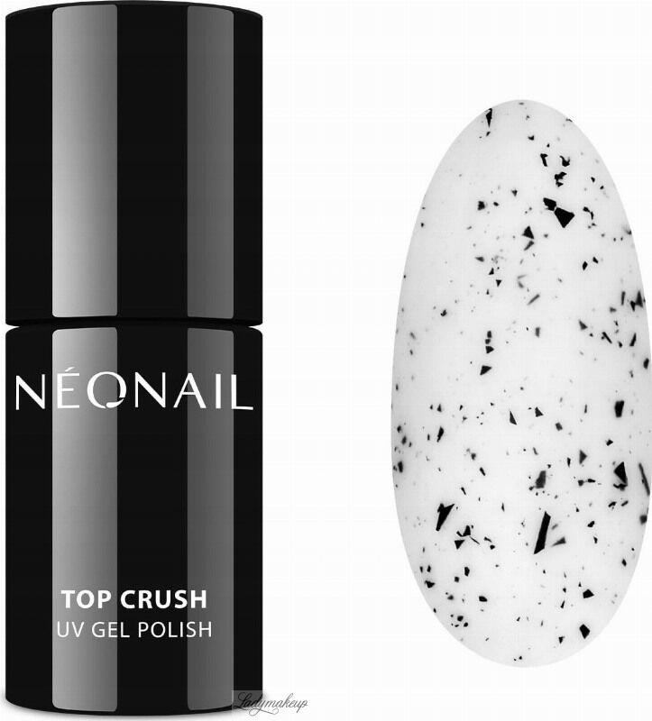 NeoNail - UV GEL POLISH COLOR - TOP CRUSH - Top / Lakier nawierzchniowy z czarnymi drobinkami - 7,2 ml - 8531-7