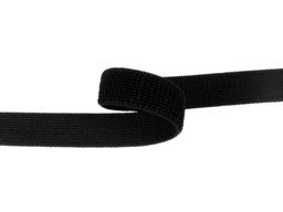Taśma rzep elastyczny 20mm czarna Pętelka