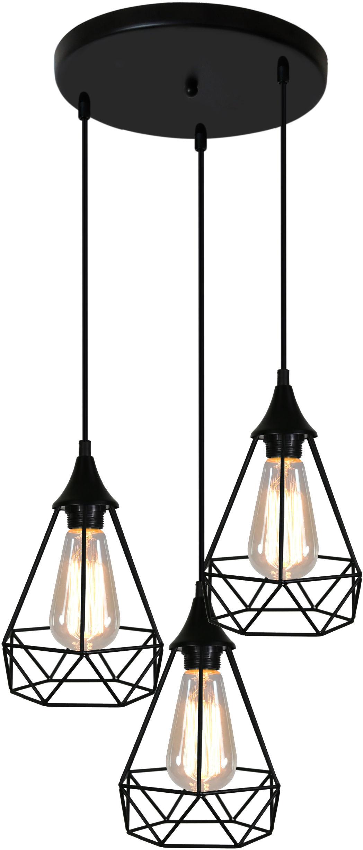 Candellux GRAF 33-62918 lampa wisząca czarna druciana 3X60W E27 43cm