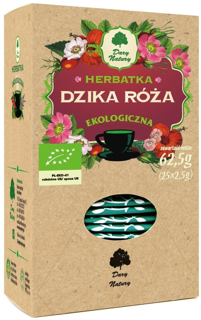 Herbatka z dzikiej róży bio 25 x 2,5 g - dary natury