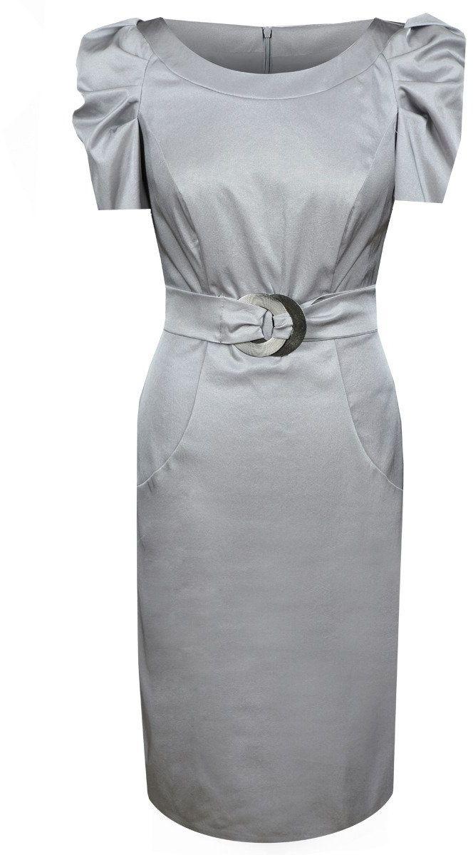 Sukienka FSU203 SZARY JASNY