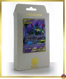 Sleimok & Alola-Sleimok-GX 196/214 Full Art - #myboost X słońce i księżyc 10 mocy w harmonii - pudełko z 10 niemieckimi kartami Pokémon