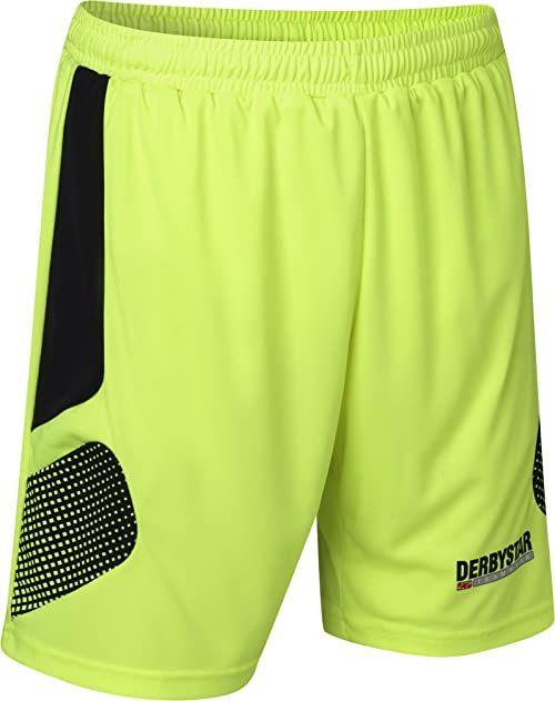 Derbystar Aponi Pro spodnie bramkarskie, M, żółte, czarne, 6630040520