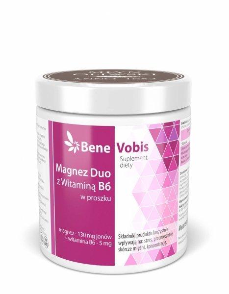 Bene Vobis - Magnez DUO z witaminą B6 - 500g