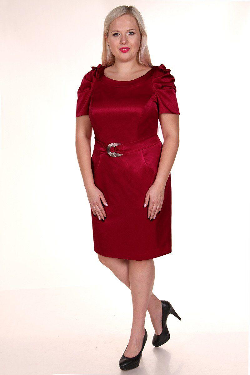 Sukienka FSU203 RUBINOWY