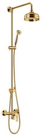 Omnires Art Deco system prysznicowy złoto AD5144GL