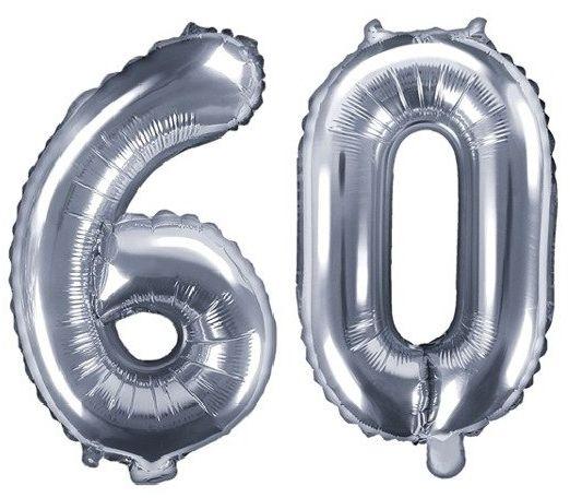 Balony foliowe 60 srebrne 35cm FB10M-60-018