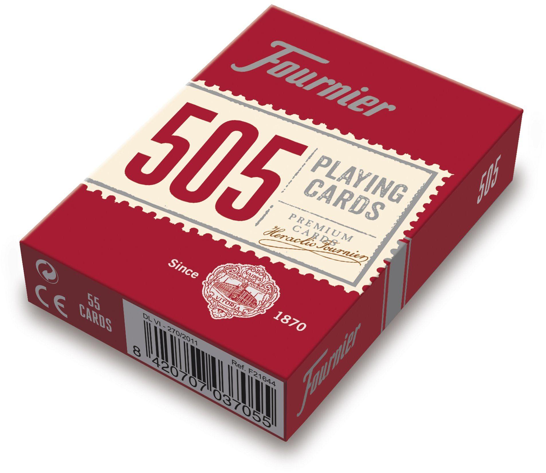 FOURNIER F21644 nr 505 klasyczna poker karty do gry, czerwona lub niebieska