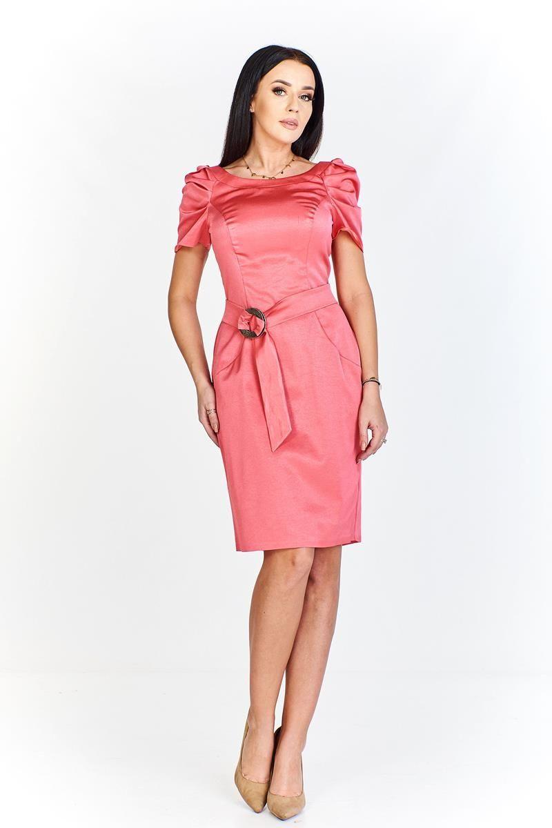 Sukienka FSU203 KORALOWY