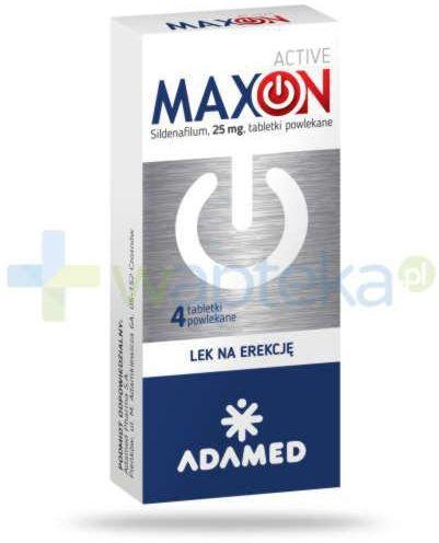 MaxOn Active 25 mg (Sildenafil) lek na potencję 4 tabletki