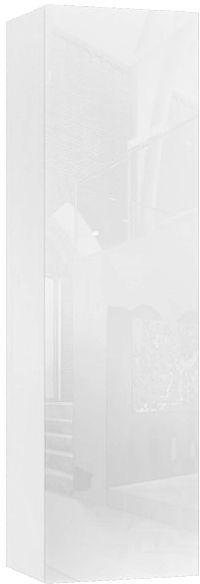 Biały słupek szafka ścienna 140 cm - Nevika 8X