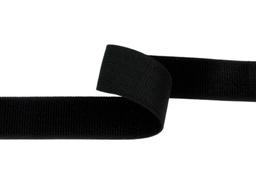Taśma rzep elastyczny 38mm czarna Pętelka