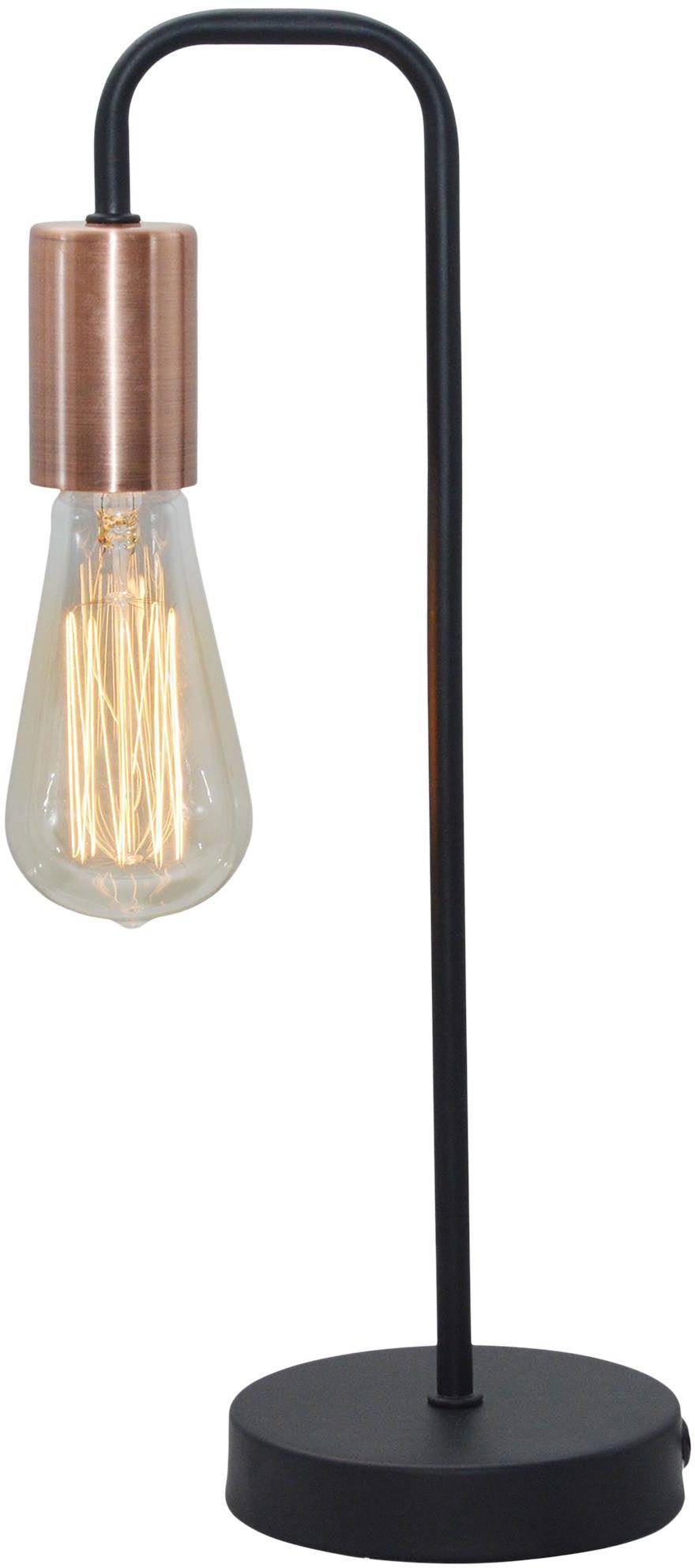 Candellux HERPE 41-66862 lampa stołowa czarna 1X60W E27