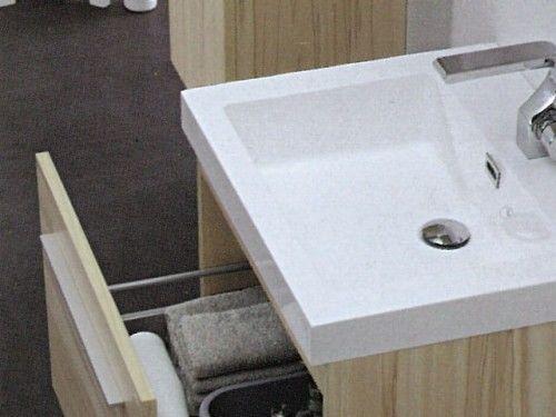 Umywalka łazienkowa z lanego marmuru KANSAS, biała Made in Italy