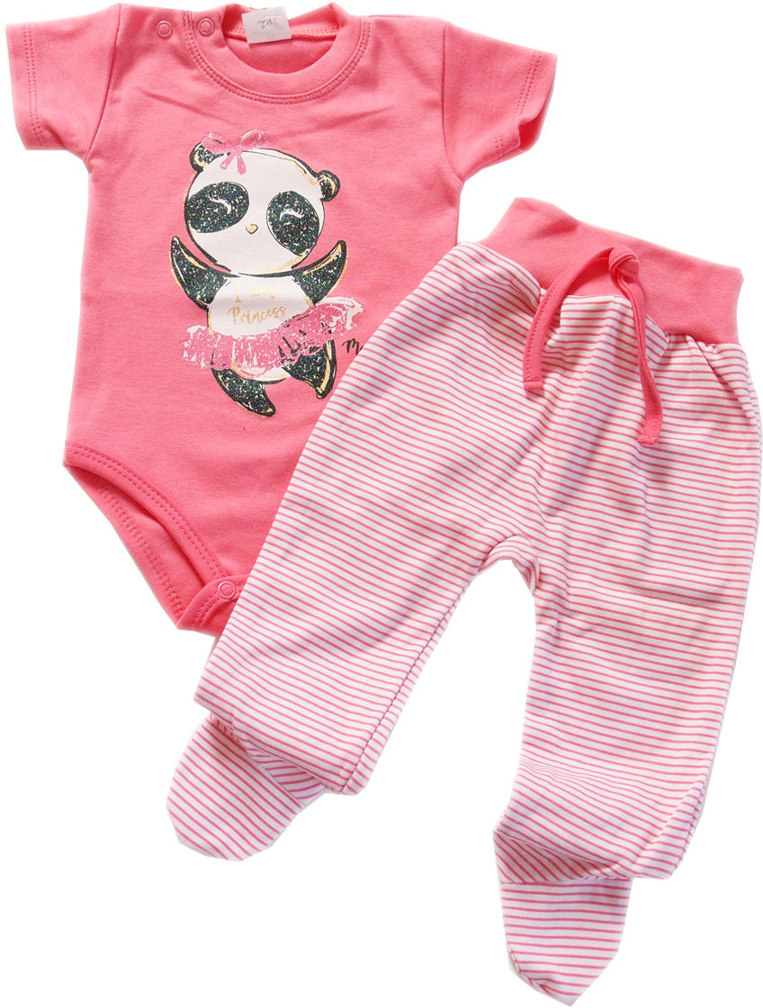 Komplet body niemowlęce i półśpiochy Panda Irenka