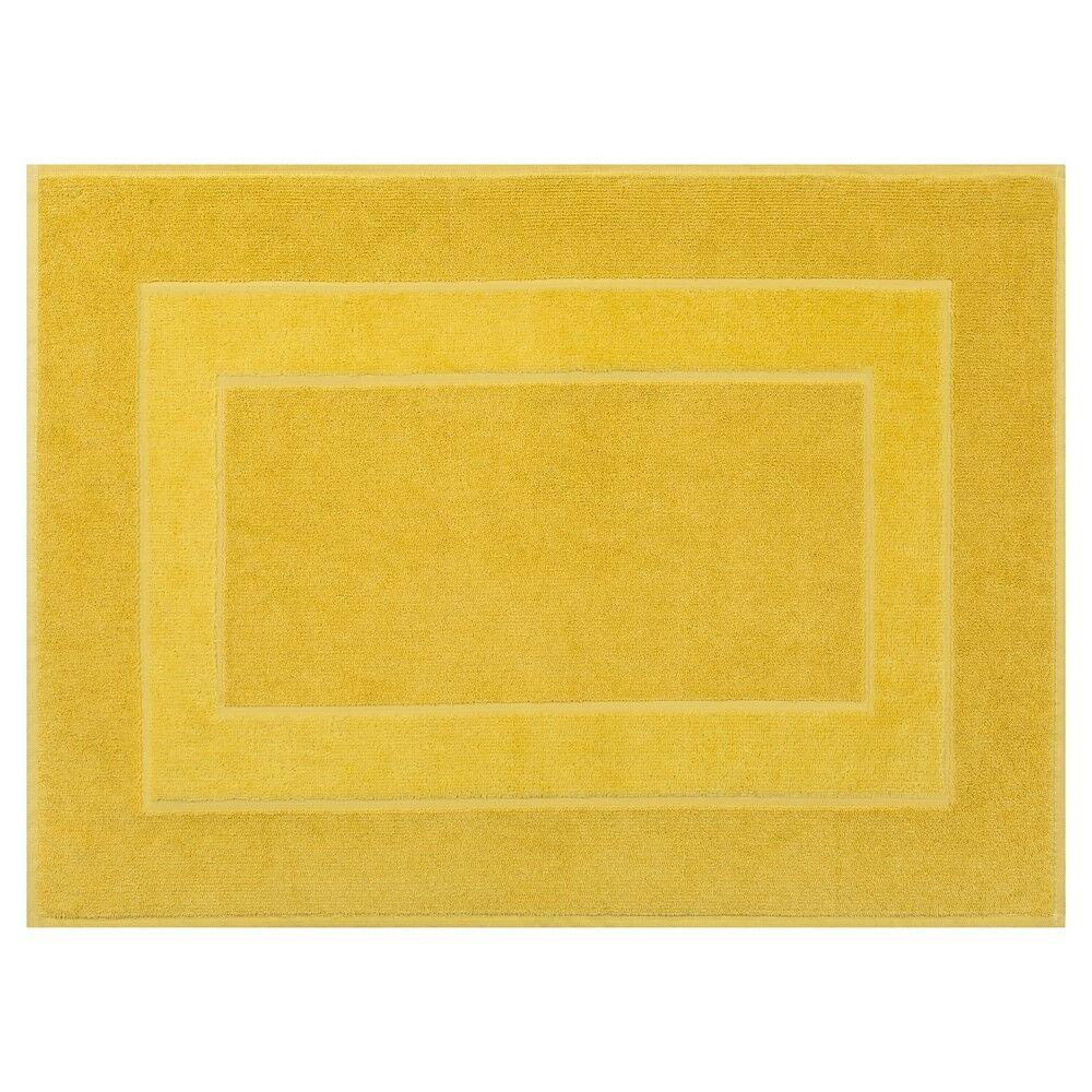 Dywanik łazienkowy 50x70 Lucy 10 musztardowy bawełniany 650g/m2 Eurofirany