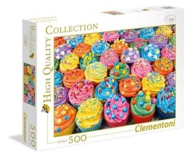 Puzzle Clementoni 500 - Kolorowe babeczki, Colorful cupcakes