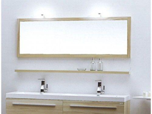 Lustro łazienkowe KANSAS, jabłoń / wenge Made in Italy