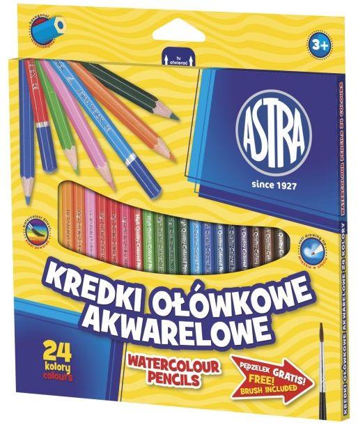 Kredki ołówkowe akwarelowe 24k Astra nr 0474 60474
