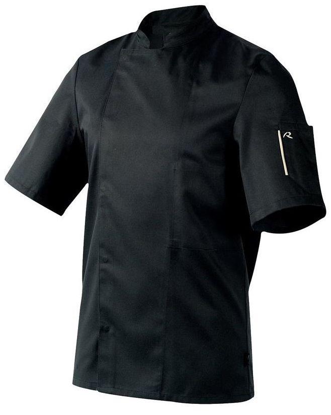Bluza kucharska Nero czarna krótki rękaw XXXL