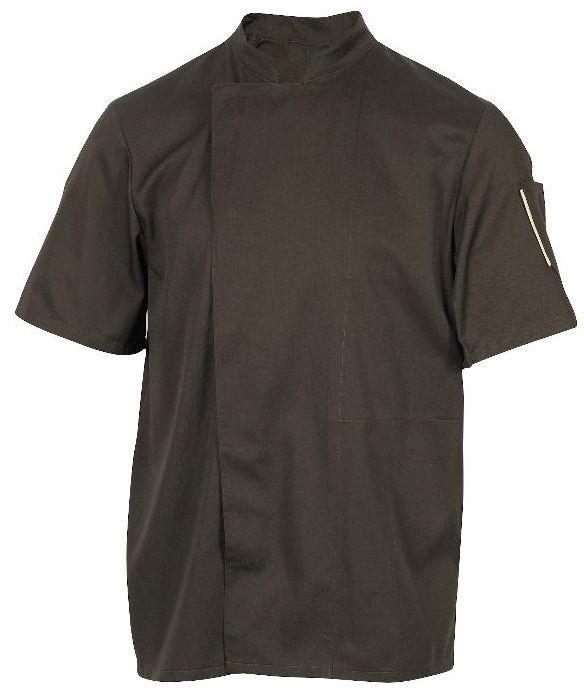 Bluza kucharska Nero mokka krótki rękaw XS