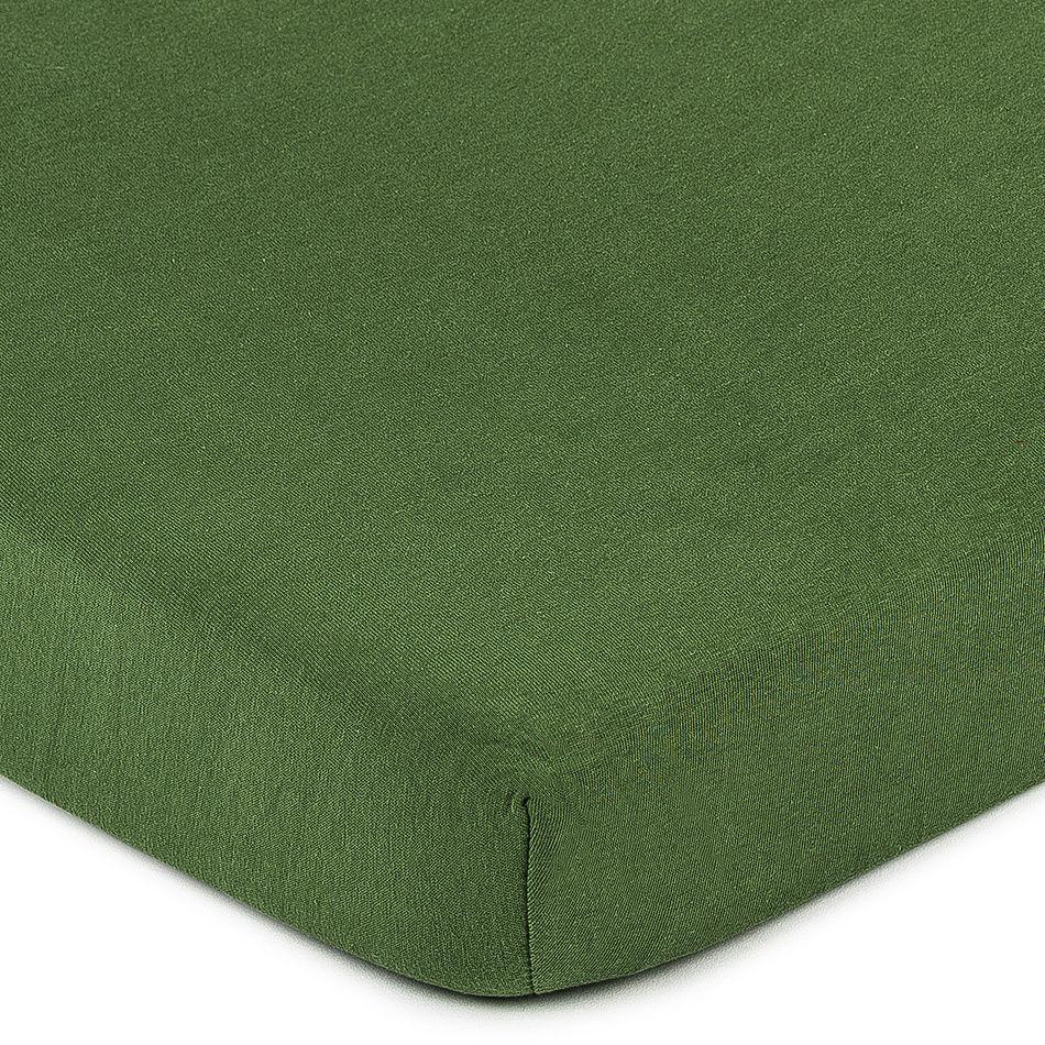 4Home prześcieradło jersey zielony oliwkowy, 90 x 200 cm