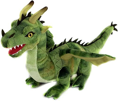 Uni-Toys  smok zielony  40 cm (długość)  bajkowe zwierzątko  pluszowe zwierzątko pluszowe, maskotka