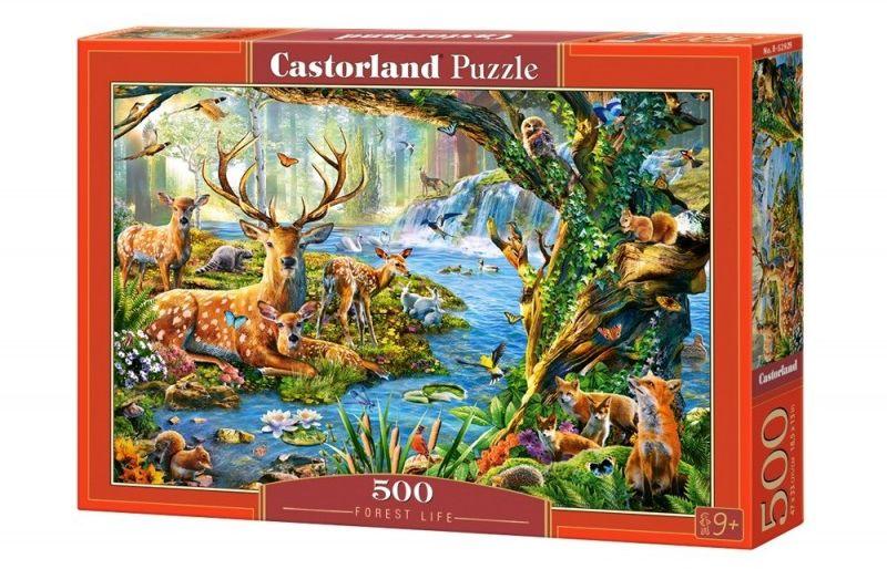 Puzzle 500 elementów Leśne życie